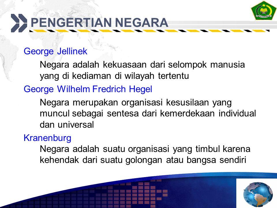 PENGERTIAN NEGARA George Jellinek
