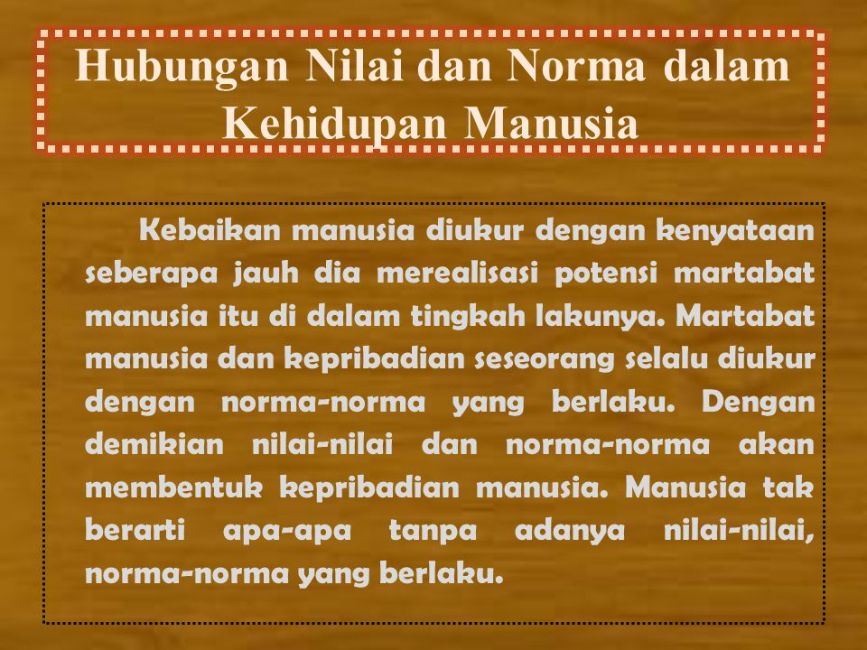 Hubungan Nilai dan Norma dalam Kehidupan Manusia