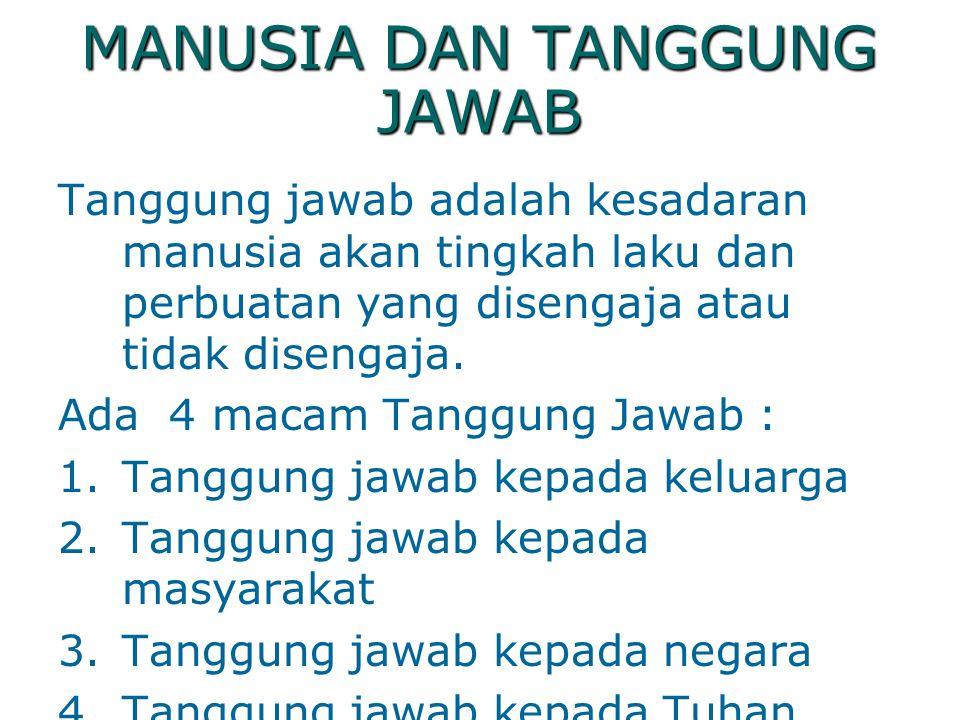MANUSIA DAN TANGGUNG JAWAB