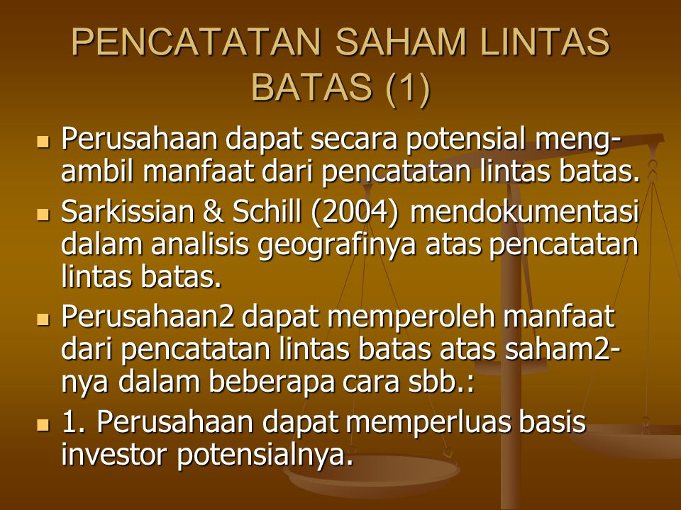 PENCATATAN SAHAM LINTAS BATAS (1)
