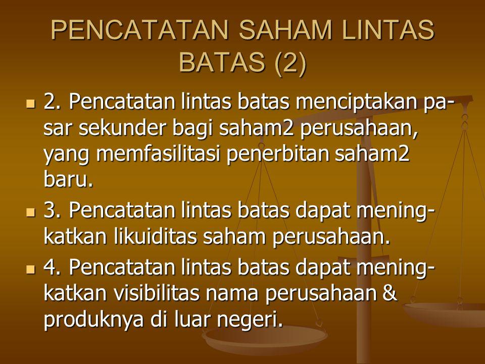 PENCATATAN SAHAM LINTAS BATAS (2)
