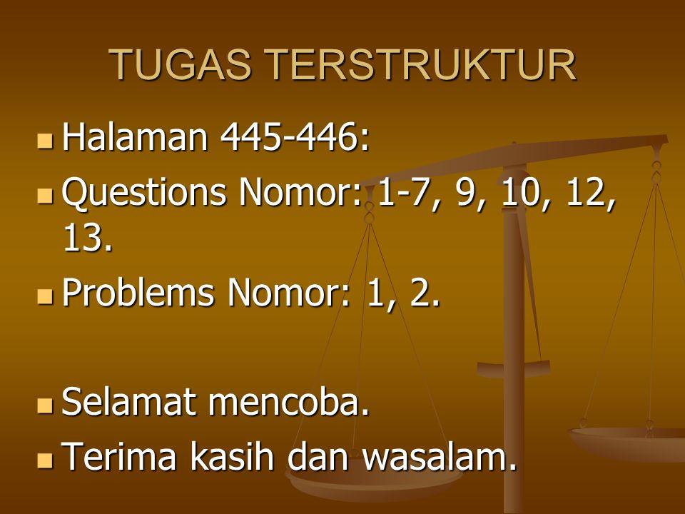 TUGAS TERSTRUKTUR Halaman 445-446: