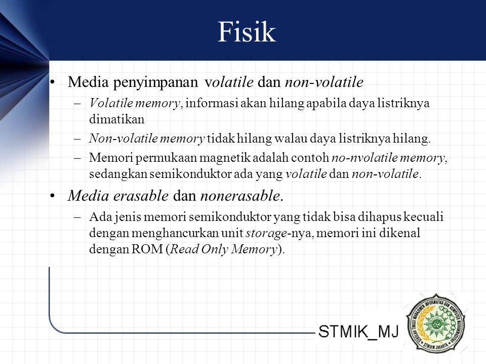 Fisik Media penyimpanan volatile dan non-volatile