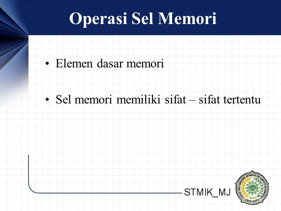 Operasi Sel Memori Elemen dasar memori