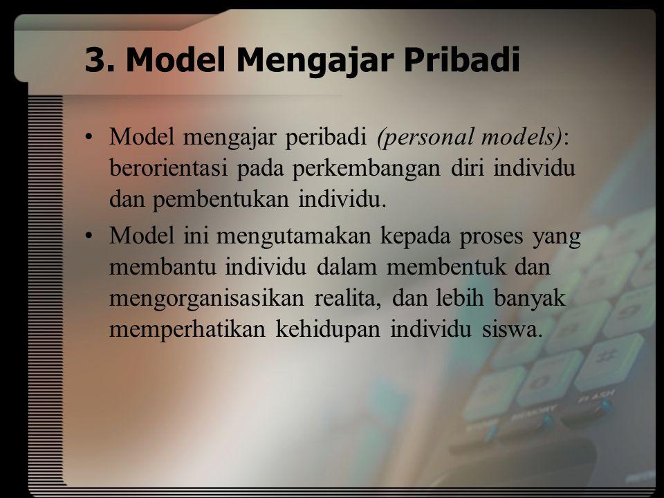 3. Model Mengajar Pribadi