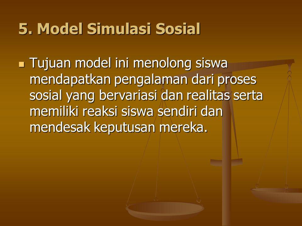 5. Model Simulasi Sosial