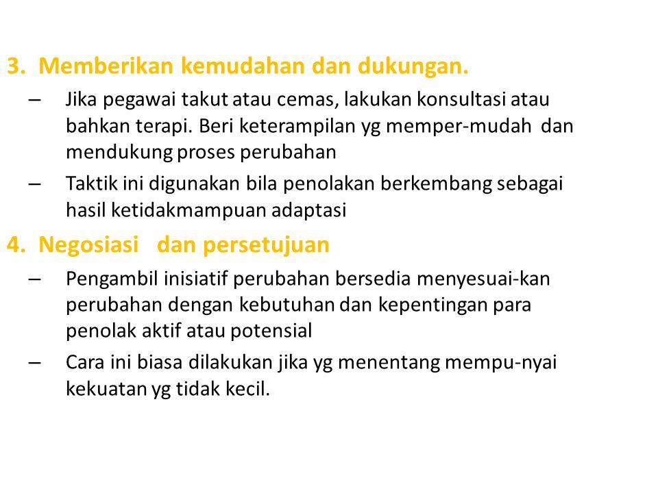 3. Memberikan kemudahan dan dukungan.