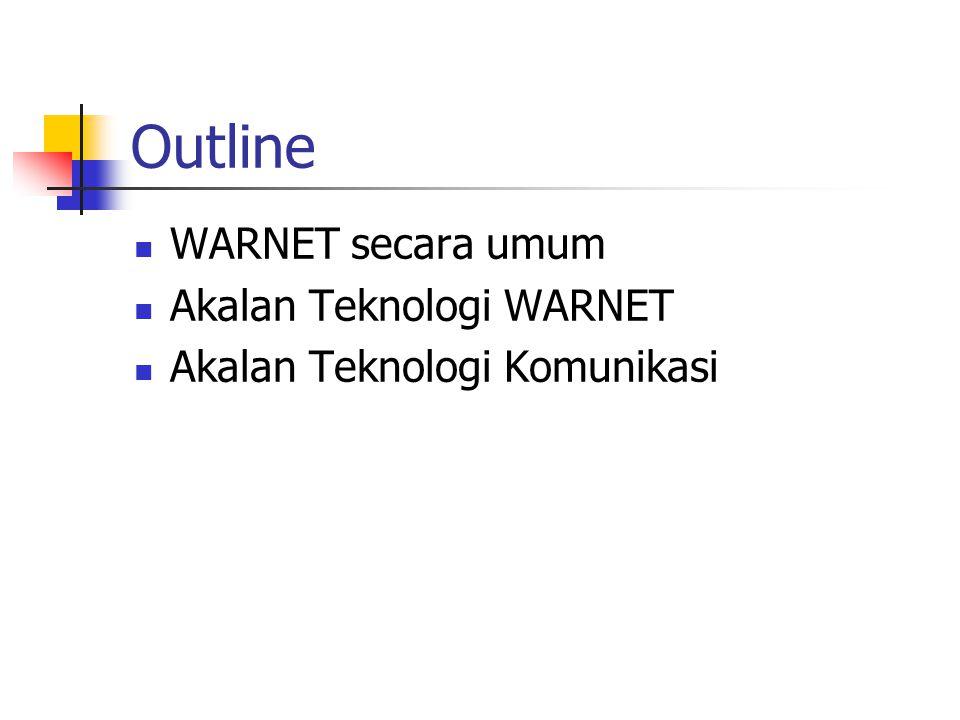 Outline WARNET secara umum Akalan Teknologi WARNET