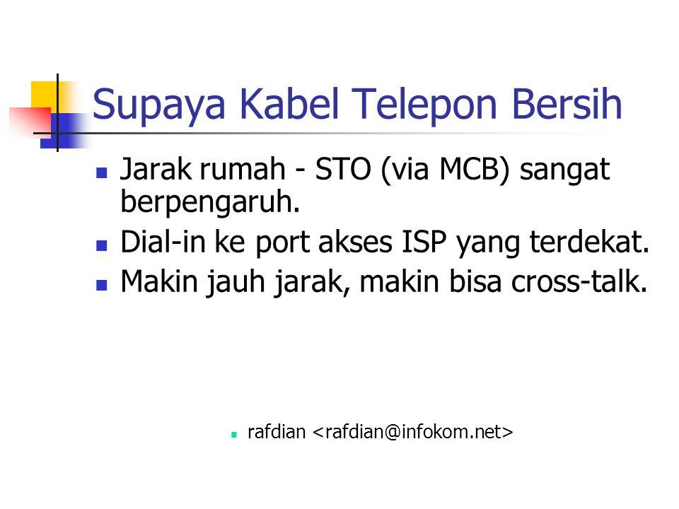 Supaya Kabel Telepon Bersih