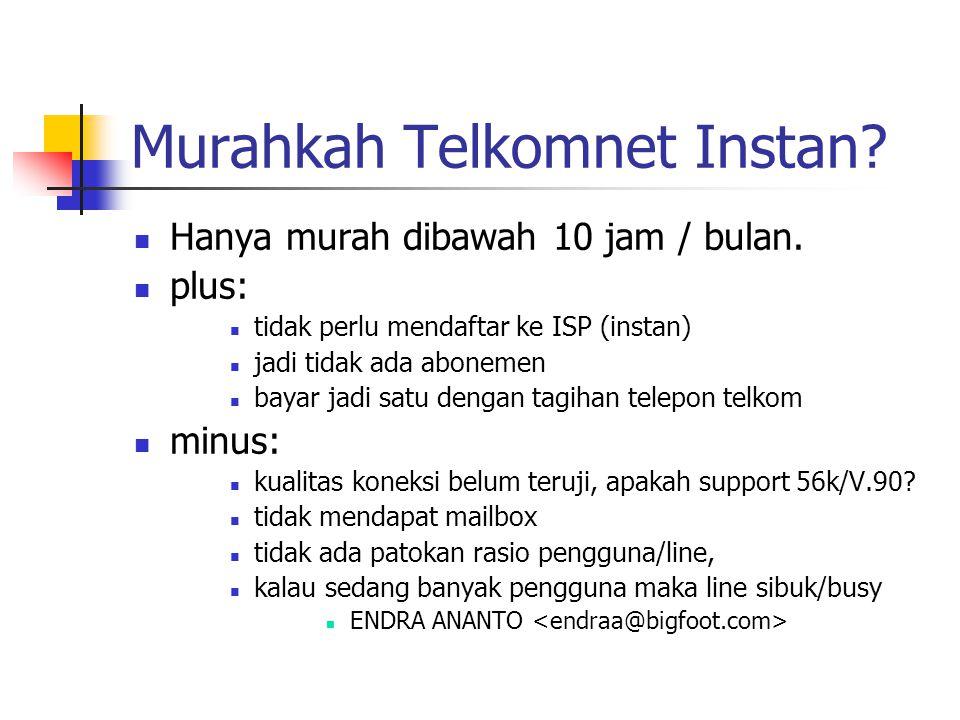 Murahkah Telkomnet Instan