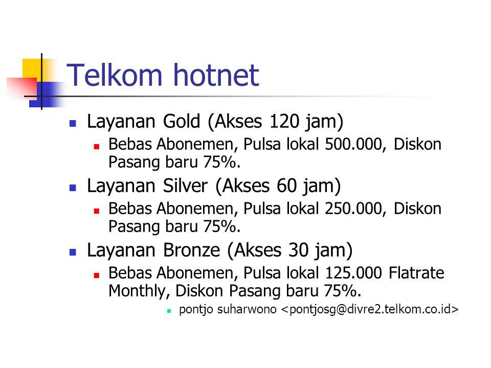 Telkom hotnet Layanan Gold (Akses 120 jam)