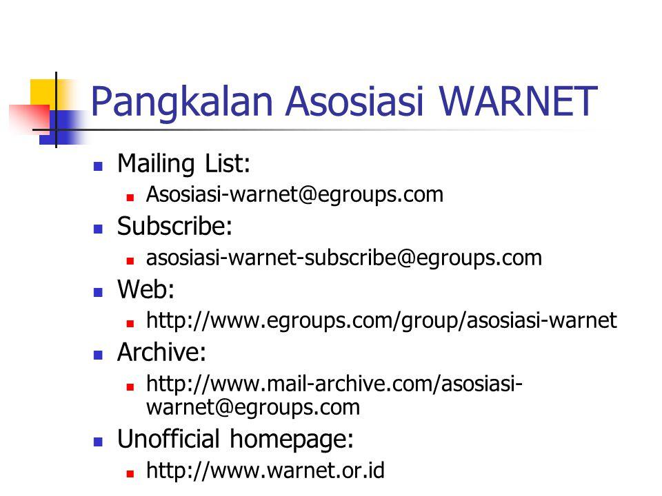 Pangkalan Asosiasi WARNET