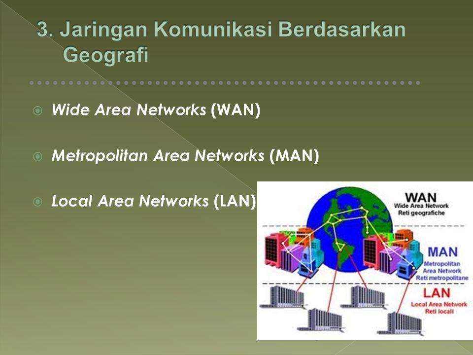 3. Jaringan Komunikasi Berdasarkan Geografi