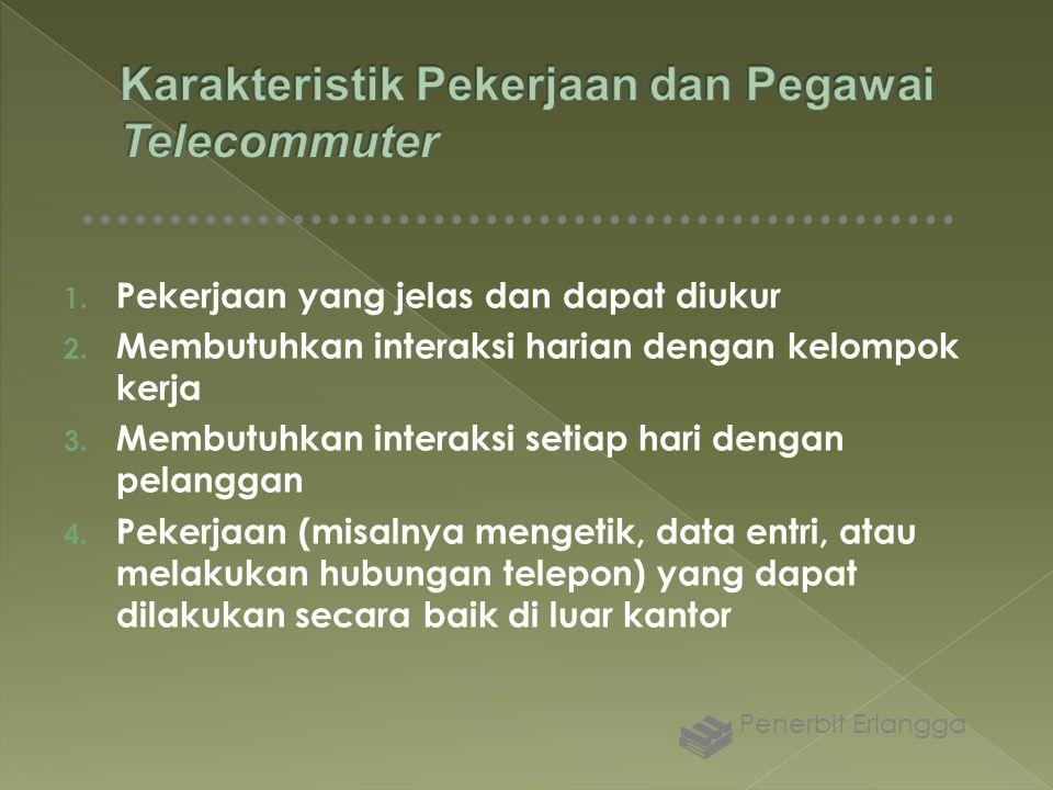 Karakteristik Pekerjaan dan Pegawai Telecommuter