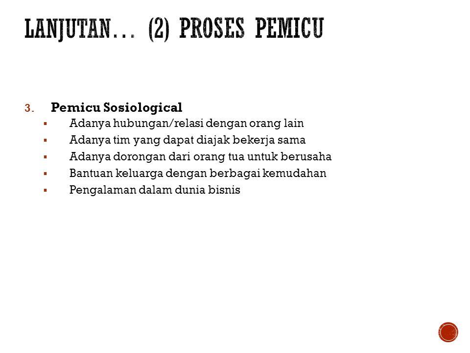 lanjutan… (2) PROSES PEMICU