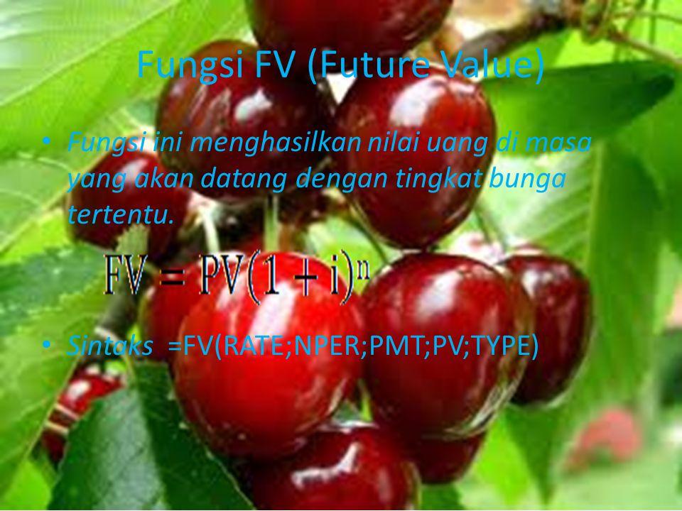 Fungsi FV (Future Value)