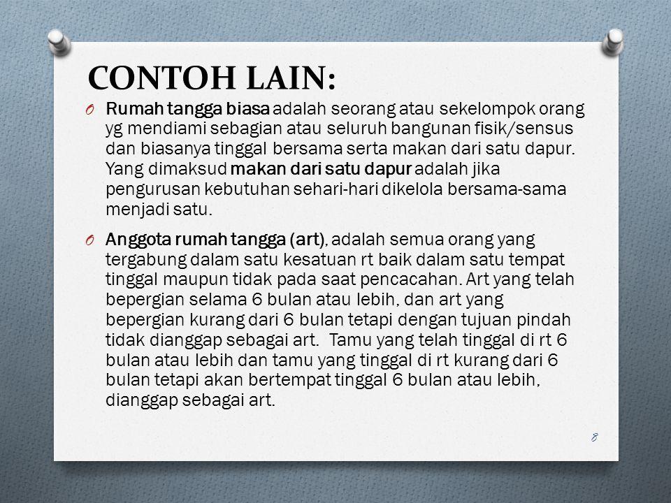 CONTOH LAIN: