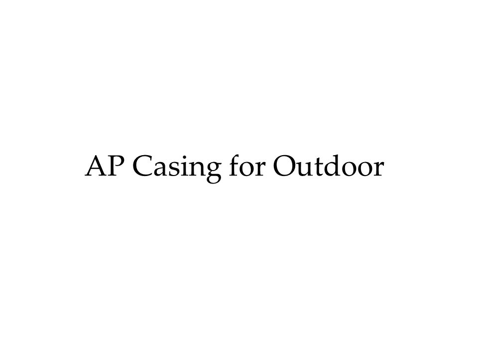 AP Casing for Outdoor