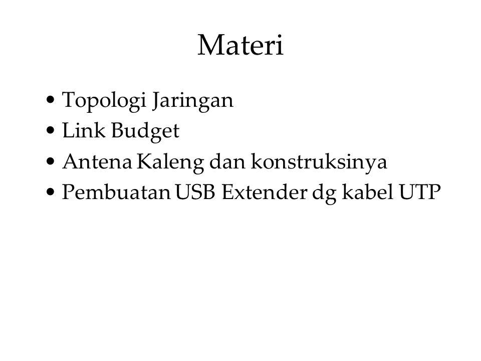Materi Topologi Jaringan Link Budget Antena Kaleng dan konstruksinya