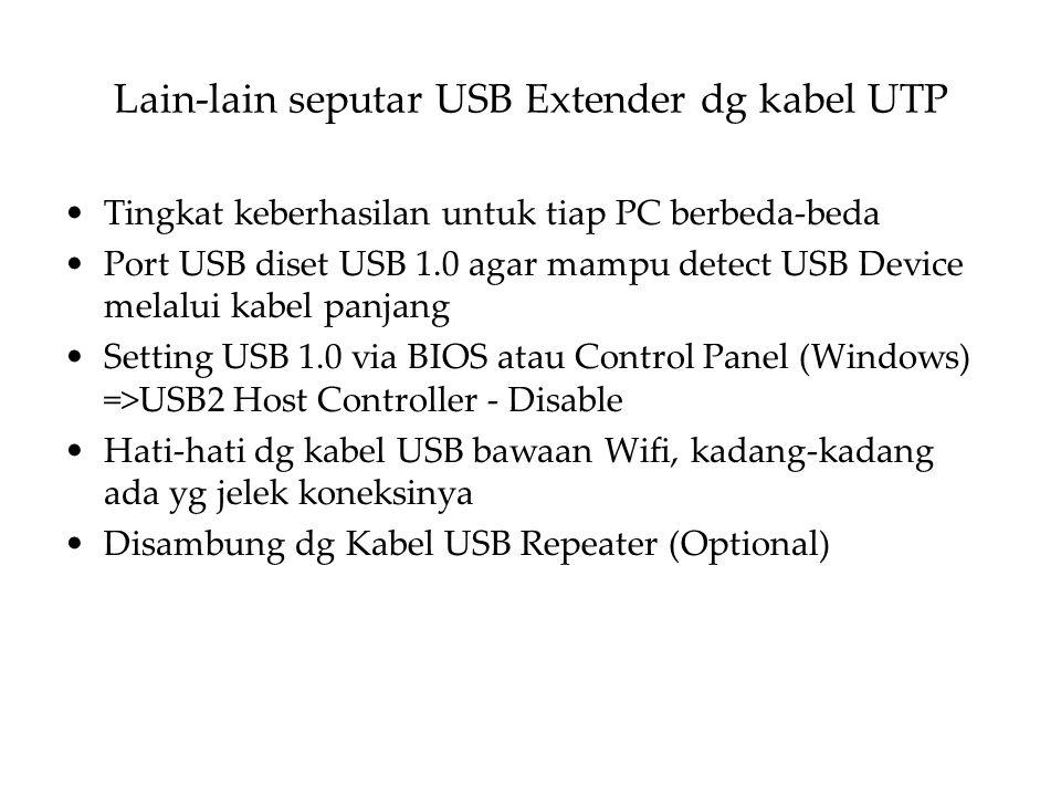 Lain-lain seputar USB Extender dg kabel UTP