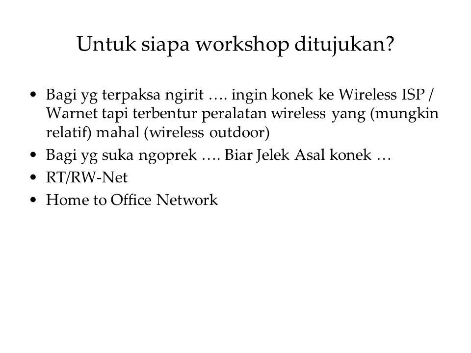 Untuk siapa workshop ditujukan