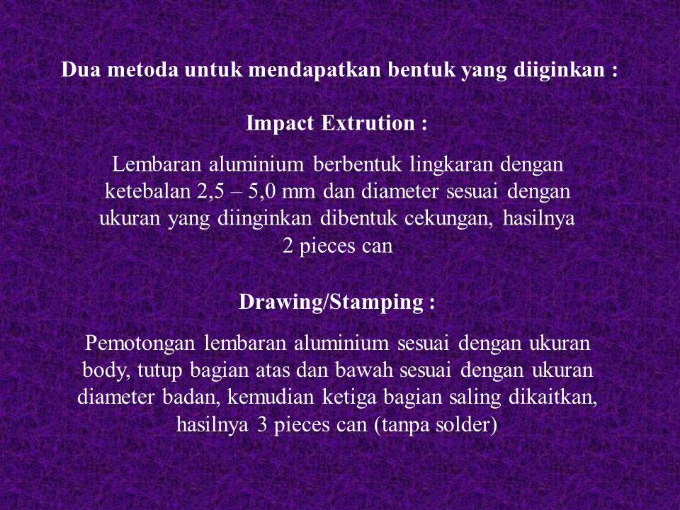 Dua metoda untuk mendapatkan bentuk yang diiginkan :