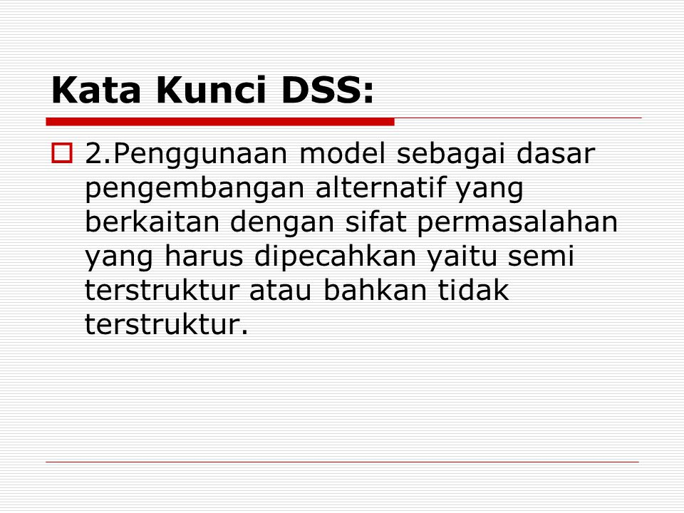 Kata Kunci DSS:
