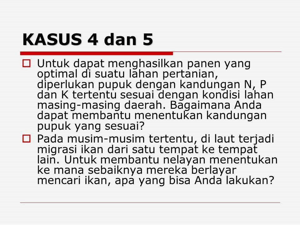 KASUS 4 dan 5