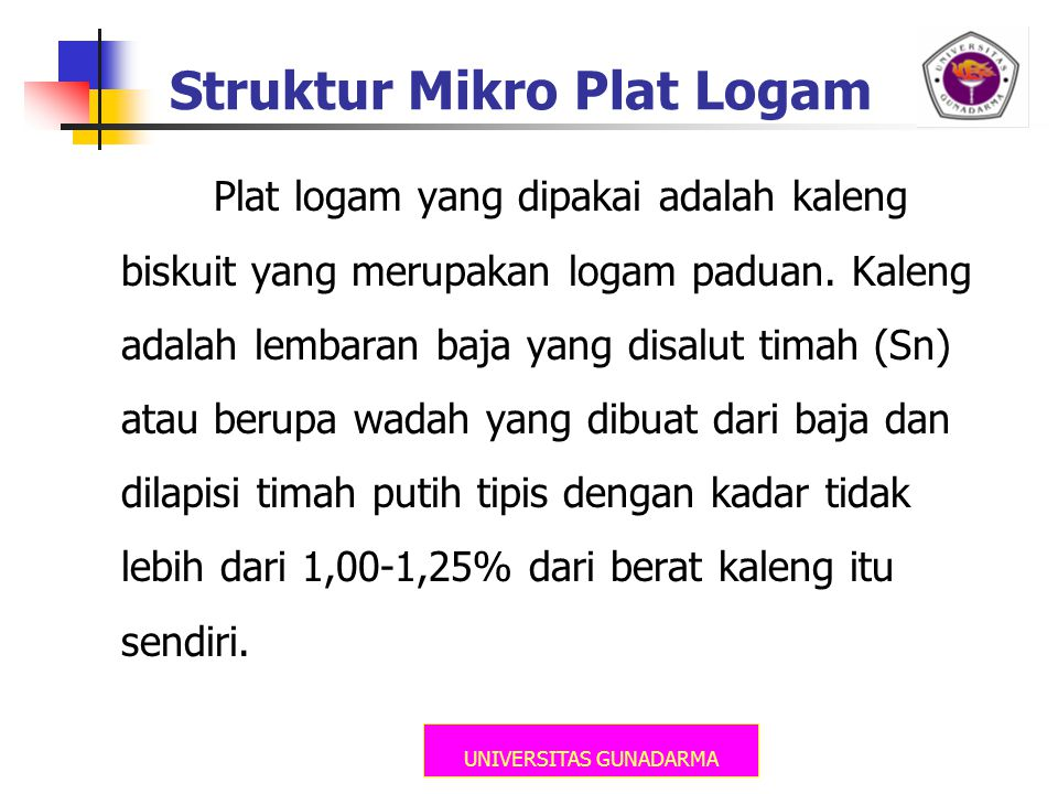 Struktur Mikro Plat Logam