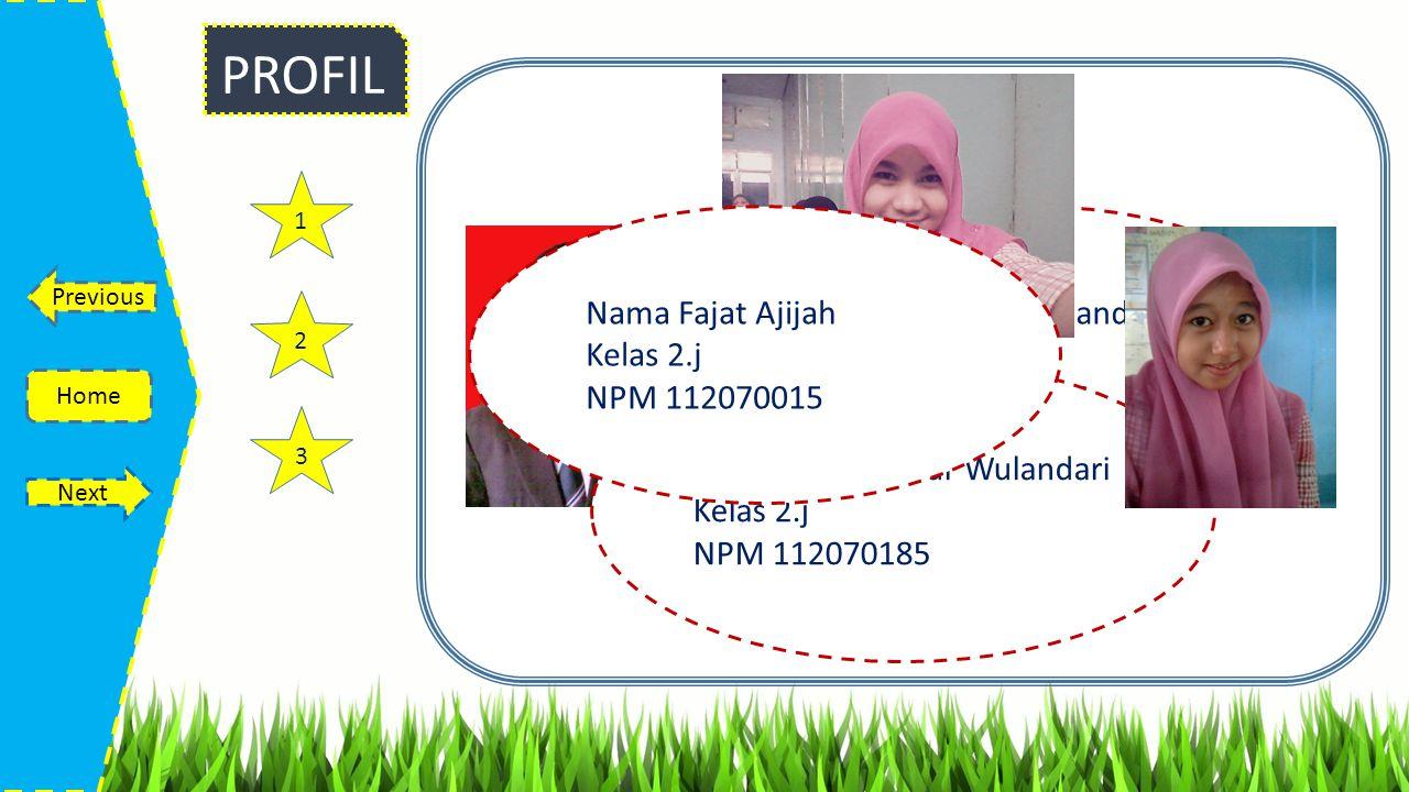 PROFIL Nama Fajat Ajijah Kelas 2.j NPM 112070015
