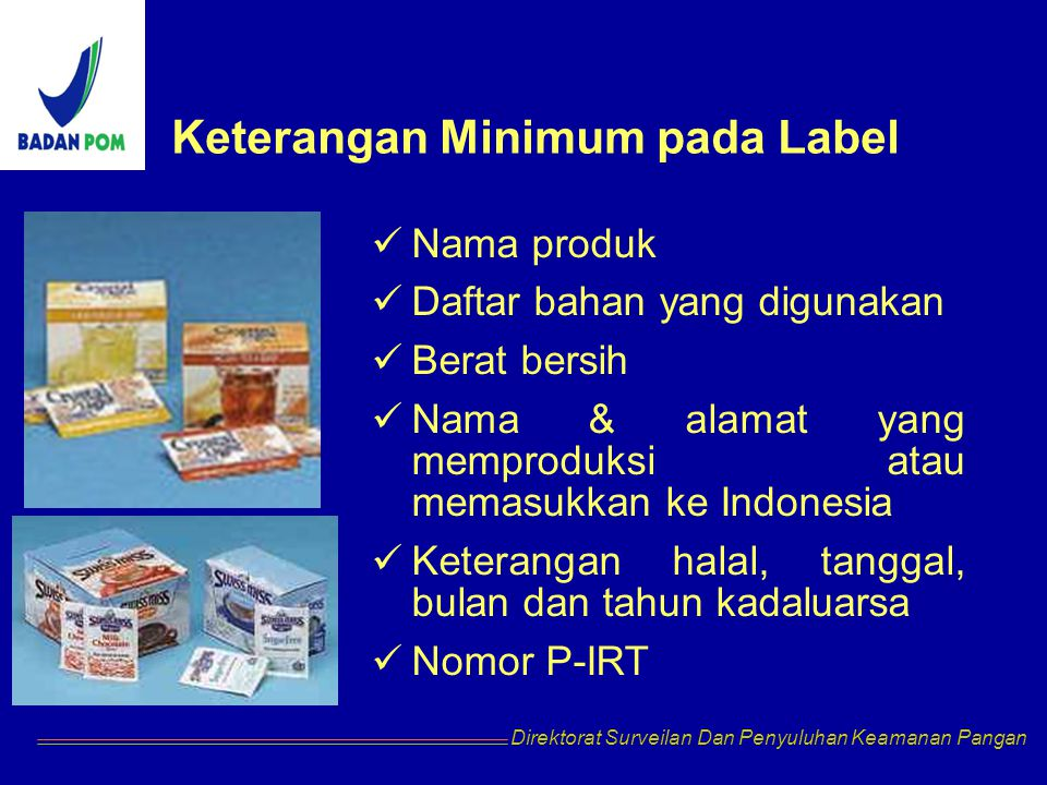 Keterangan Minimum pada Label