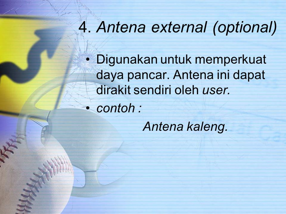 4. Antena external (optional)