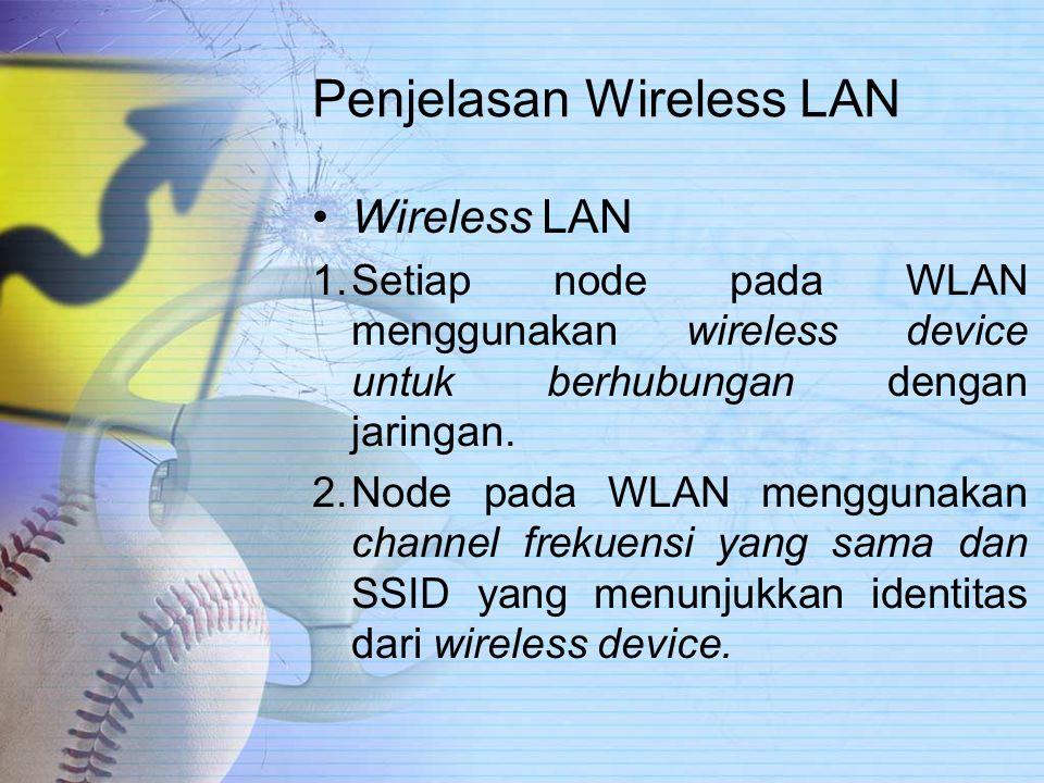 Penjelasan Wireless LAN