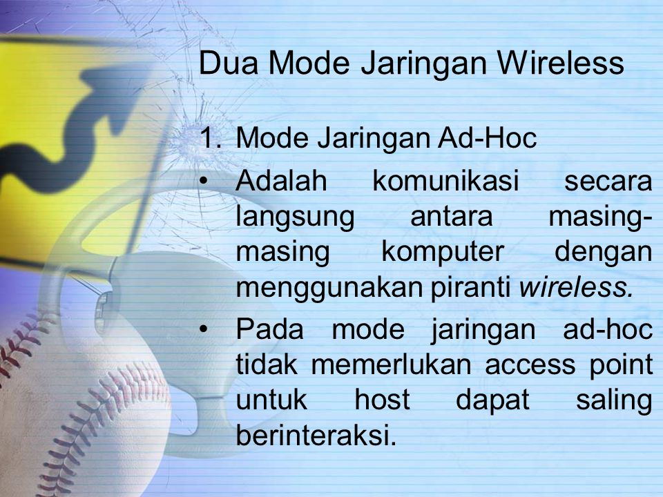 Dua Mode Jaringan Wireless