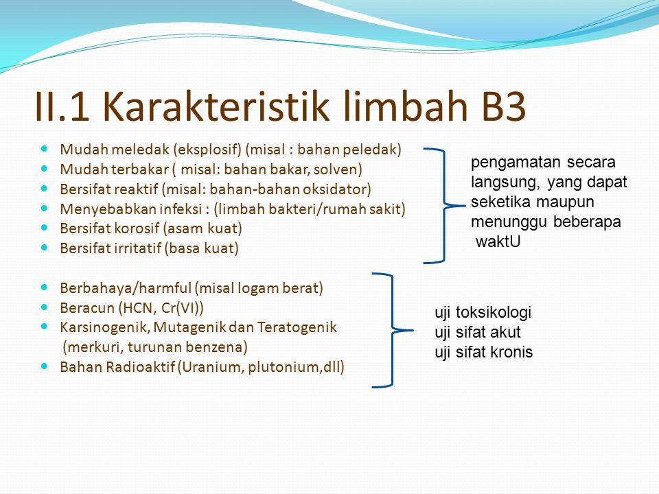 II.1 Karakteristik limbah B3