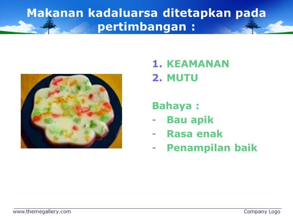 Makanan kadaluarsa ditetapkan pada pertimbangan :