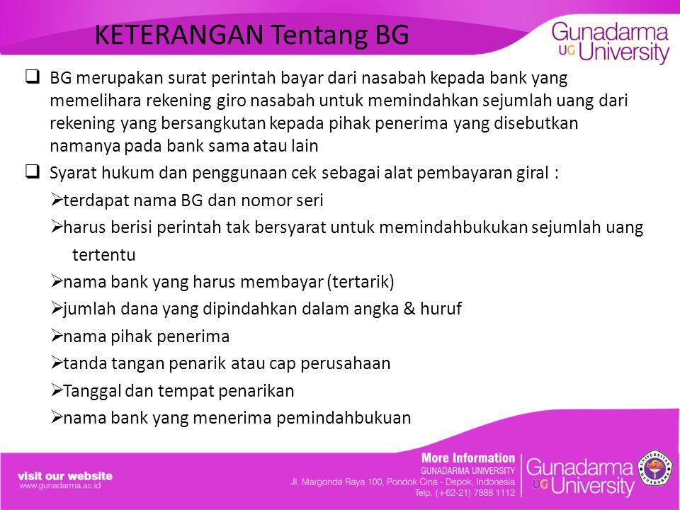 KETERANGAN Tentang BG