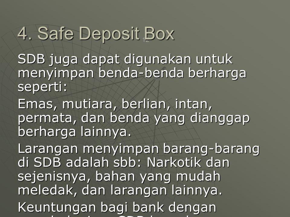 4. Safe Deposit Box