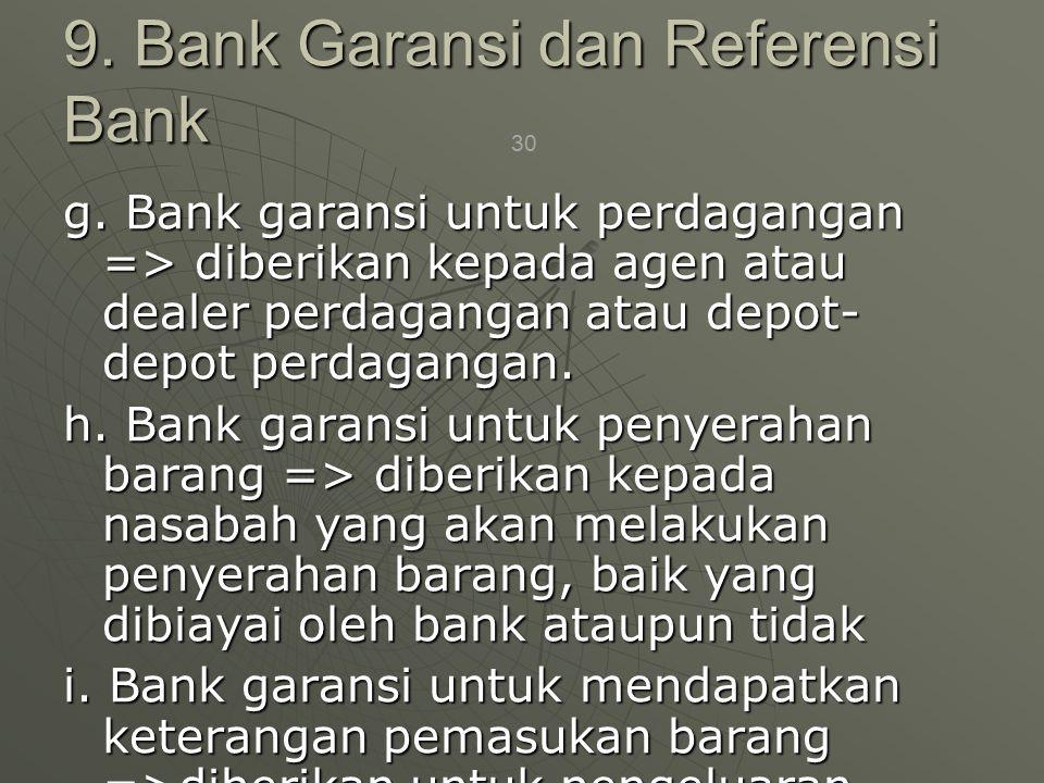 9. Bank Garansi dan Referensi Bank