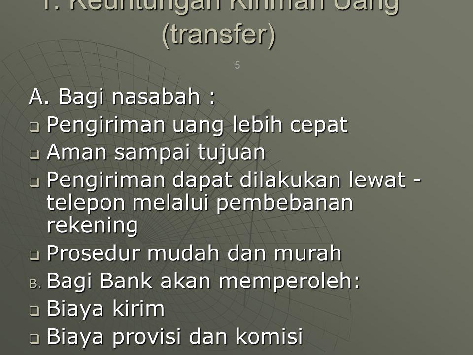 1. Keuntungan Kiriman Uang (transfer)