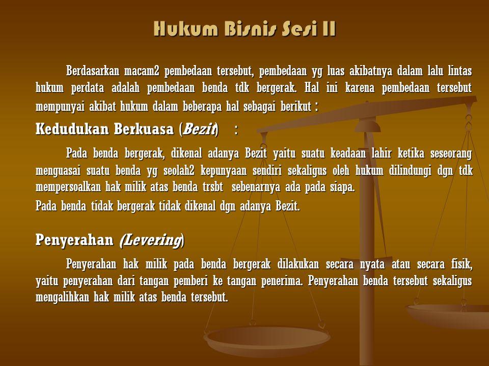 Hukum Bisnis Sesi II