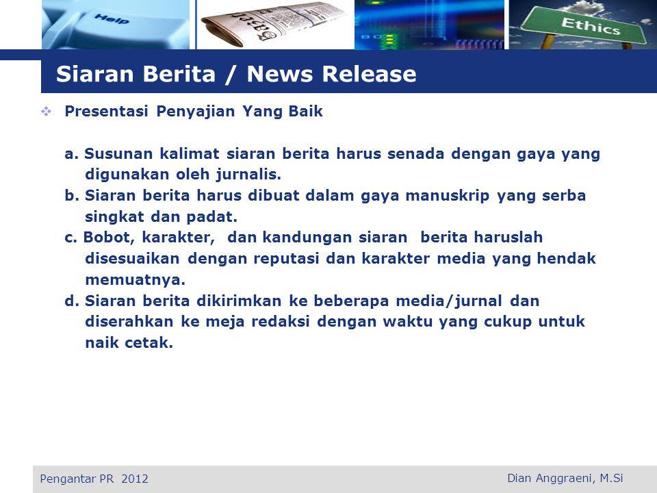 Siaran Berita / News Release