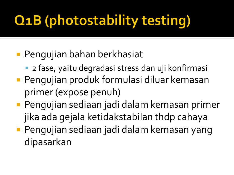 Q1B (photostability testing)