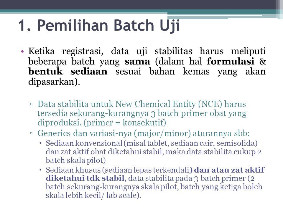 1. Pemilihan Batch Uji