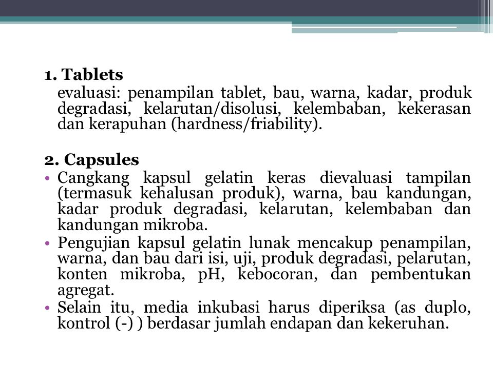 1. Tablets