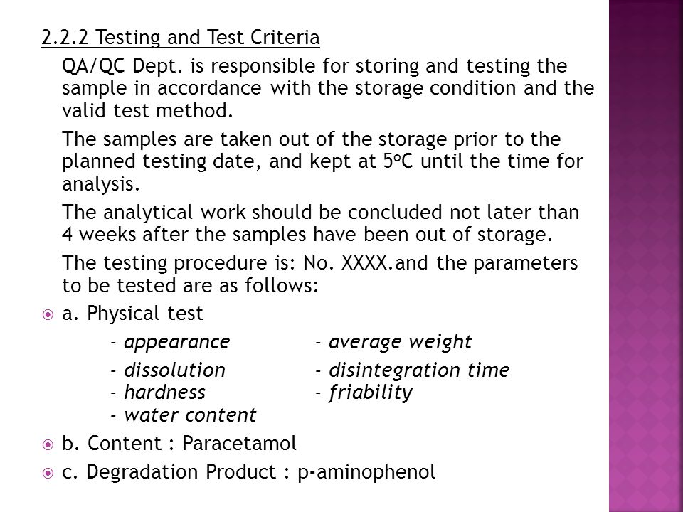2.2.2 Testing and Test Criteria