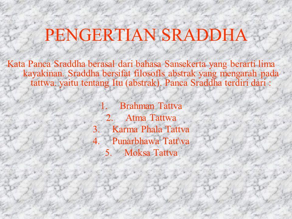 PENGERTIAN SRADDHA