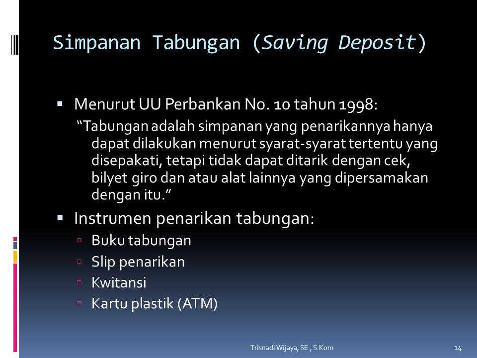 Simpanan Tabungan (Saving Deposit)