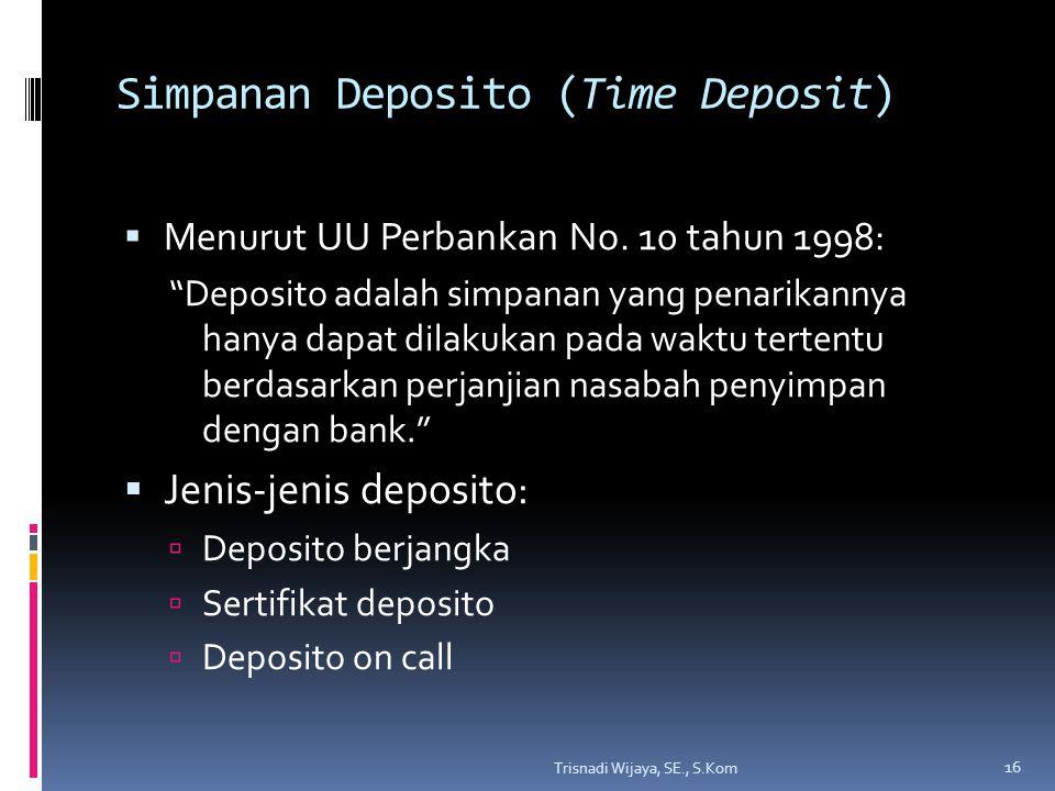 Simpanan Deposito (Time Deposit)