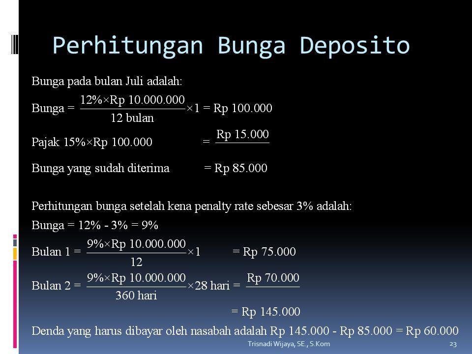 Perhitungan Bunga Deposito